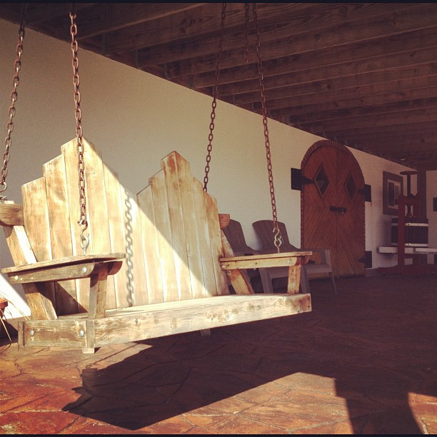 Rope Swing Bench at Magnanini Winery - Hudson Valley Winery & Vineyard