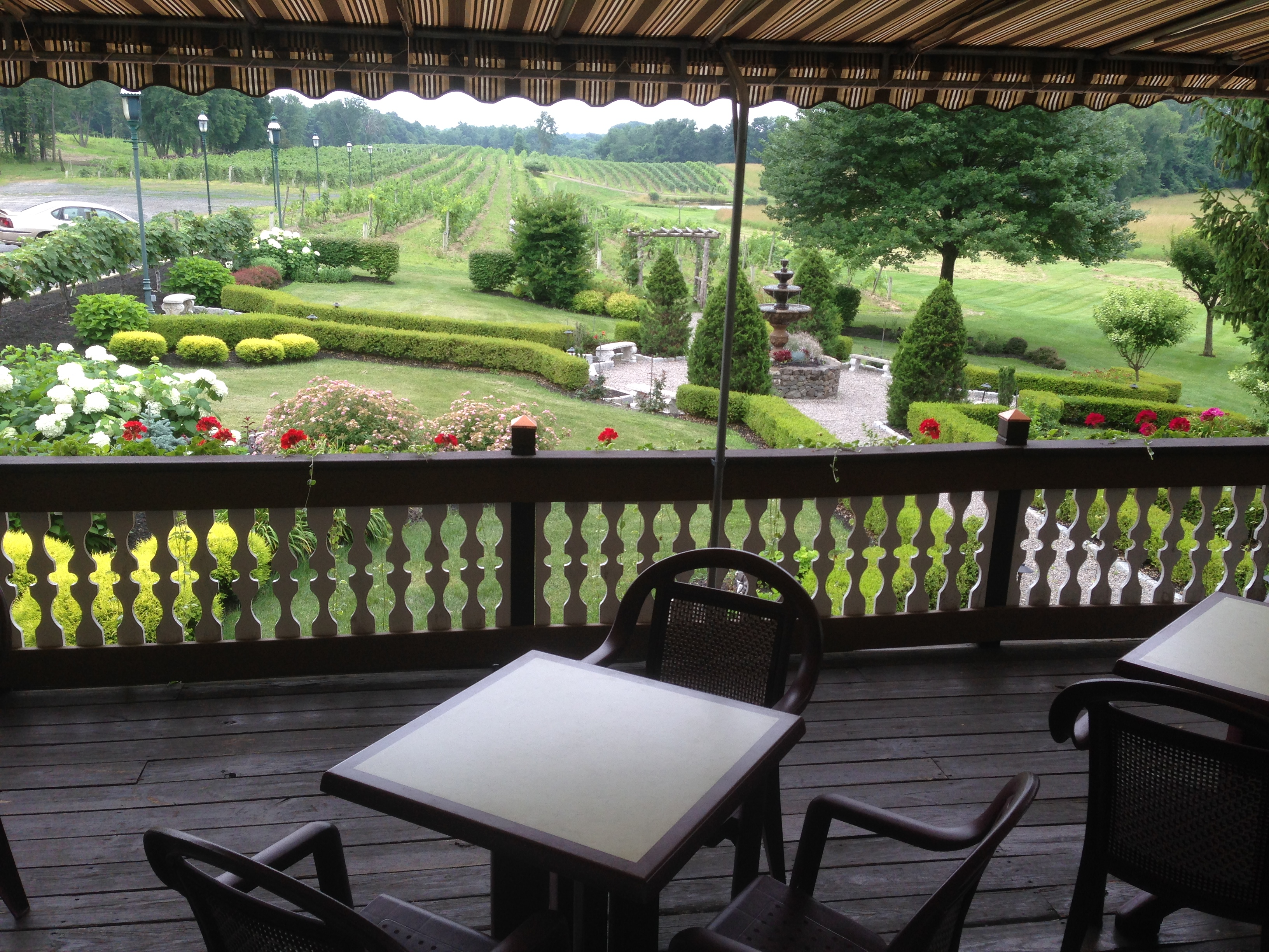 Gardens and Patio at Magnanini Winery - Hudson Valley Winery & Vineyard
