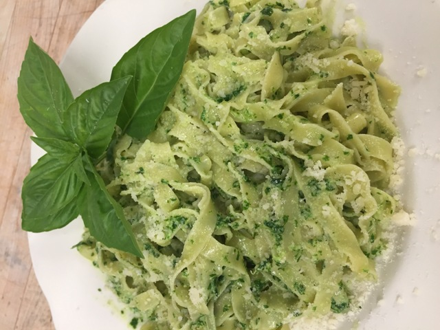 Pasta with Pesto at Magnanini Winery - Hudson Valley Winery & Vineyard