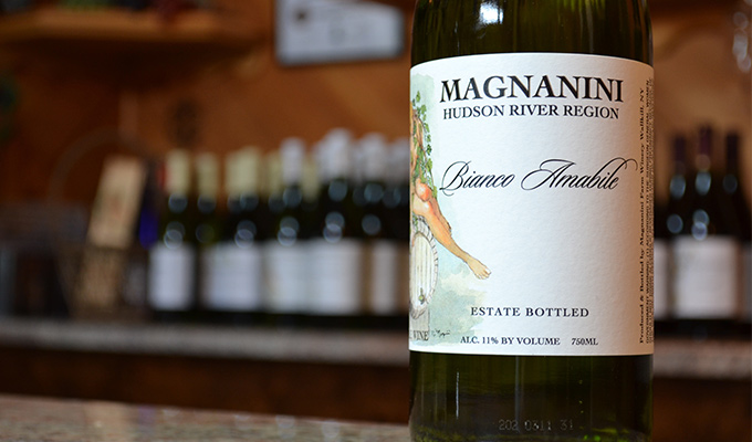 Magnanini Winery - Bottle of Wine - Hudson River Region, New York