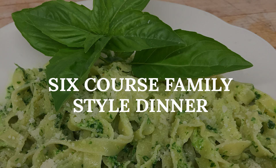 Six Course Family Style Dinner from Magnanini Winery